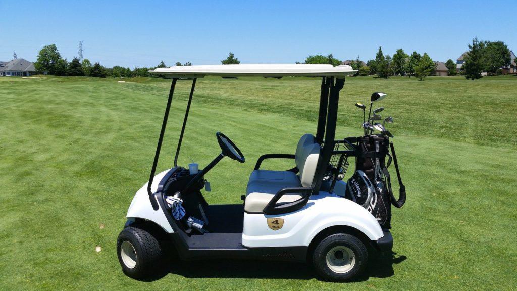 ゴルフカートのバッテリー